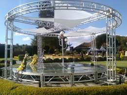 Clear staging & trussing services
