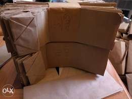 Brown bags packing bags