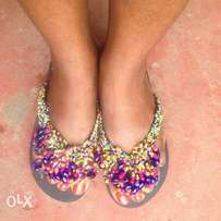 beautiful ladies bead slippers available place your order now