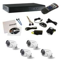 CCTV full HD kit, 4 HD cameras, 8ch dvr