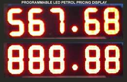 Petrol pricing signages