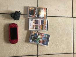 Sony Psp for sale with 3 games and a charger