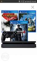 Brand new ps4 console + 3 free games and 3 months psn membership card.