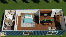 Container fabricated houses