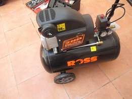 New 50liters 8bar 2hp ROSS compressor retail price R2200 seling R1850.