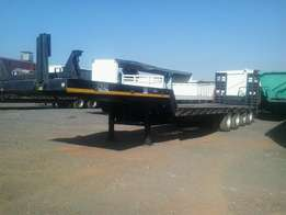 Low Bed Four Axle Trailer For Sale
