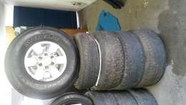 Toyota h/lux rims and tyres