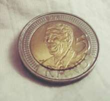 Mandela 90 years 5 rand coin for sale