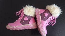 48bc8041 Różowe, piękne, ciepłe kozaczki dla dziewczynki rozmiar 22