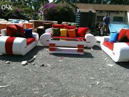A seven seater with a table