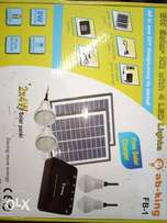 Amazing 4 bulbs with solar panel + Mobile charging . Go green!