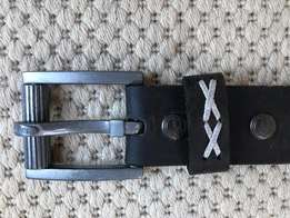 Genuine Mens Leather Superdry Belt - 28
