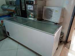 Just arrived 7by2 deepfreezer on sale glass top