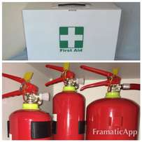 First Aid Kits and Fire Extinguisher