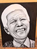 Large Oil on Canvas Painting /Picture of Mandela