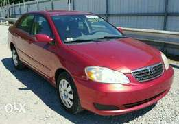 Toyota corolla red colour for sale