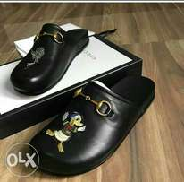 Gucci half shoes in leather