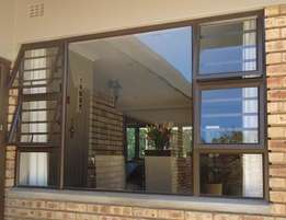 Glass and aluminum windows