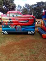 Bouncing castles for hire .