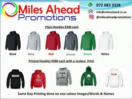 Plain and Printed Hoodies for sale !!