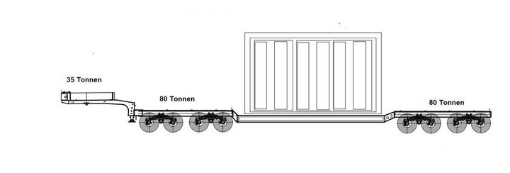 low bed trailer 160 ton - 2019