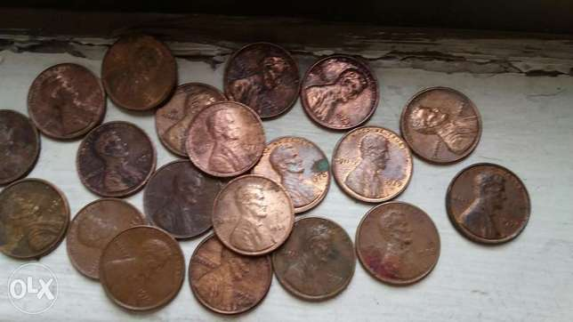 20 pcs Cent Coins of USA Lincoln Cent 1970's from 1970 till 1979