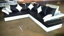 L leather floating sofa