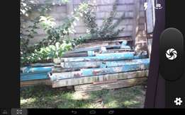 Second hand gutters, down pipes and brackets for sale