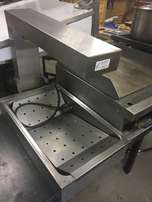 Urns, Chip Dumps, Chip Fryer, Boiling Table, Tables, pots, pans