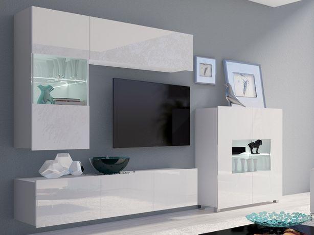 b50c92502de08c MEBLOŚCIANKA CORONA V nowoczesne meble salonowe wysoki połysk kolory Kępno  - image 1