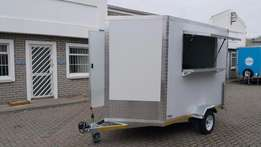 Fully equipped mobile kitchens/kitchen trailers for sale.