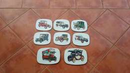 Classic Cars Large Wall Coasters.