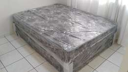 Double Bed base and mattress Black in colour [ New ]