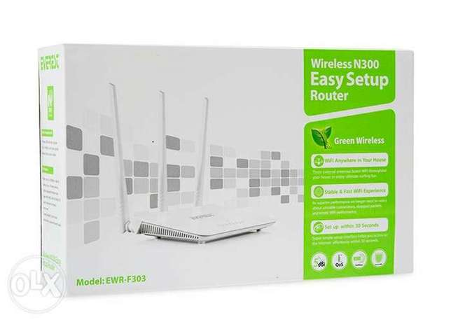 Router Wireless 3 Antenna N300 راوتر
