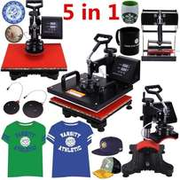 Pro 5 in 1 Cap T-Shirt Mug Heat Press Sublimation Machines