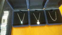 3white gold chains, diamond stones nd a MichelleHebeline ladies watch, used for sale  Alberton