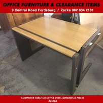 Computer table or office desk 1200x800 10 pieces R250