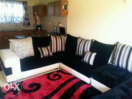Black and white 7seater seats