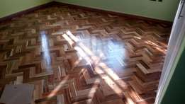 Wooden floor sanding and polishing services