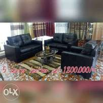 5 seater leather set