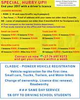 Driving school in Randburg learners /driving lessons and licence card