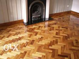 Parquet(Wooden Flooring) and wall cladding