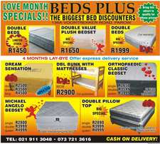 BEDS on offer at beds plus -MAY specials