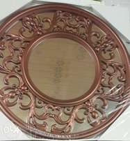 Copper red wall mirror