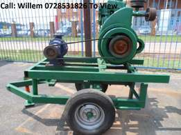1 Cylinder Lister Diesel Engine with Water Pump on Trailer R12000 Call