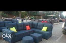 Clean deal on perfect made L shaped sofa