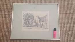 Selection of antique etchings, prints and maps.