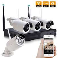 HD 4 Channel 720P Wireless IP Camera CCTV Security System NVR KIT