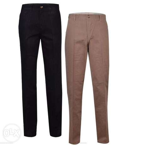 2n1 Men's straight cut chinos trousers-black and brown Lagos Mainland - image 1