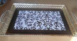 Antique look tea / coffee tray
